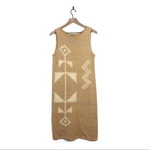 Ralph Lauren Southwestern Knit Sweater Tank Dress